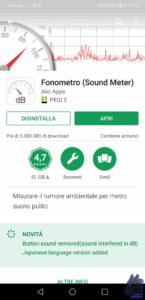 fonometro misurare il rumore