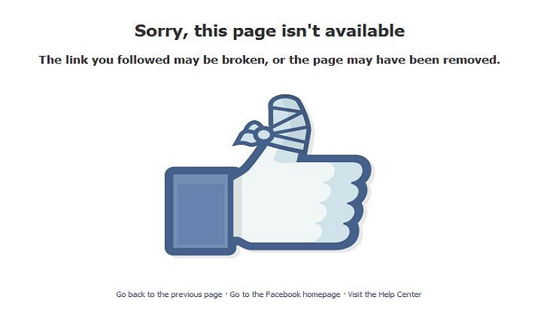 cancellare pagina facebook